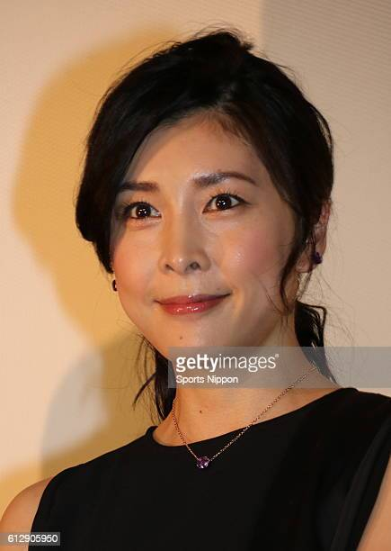 Actress Yuko Takeuchi attends opening day stage greeting of film 'Creepy' on June 18 2016 in Tokyo Japan