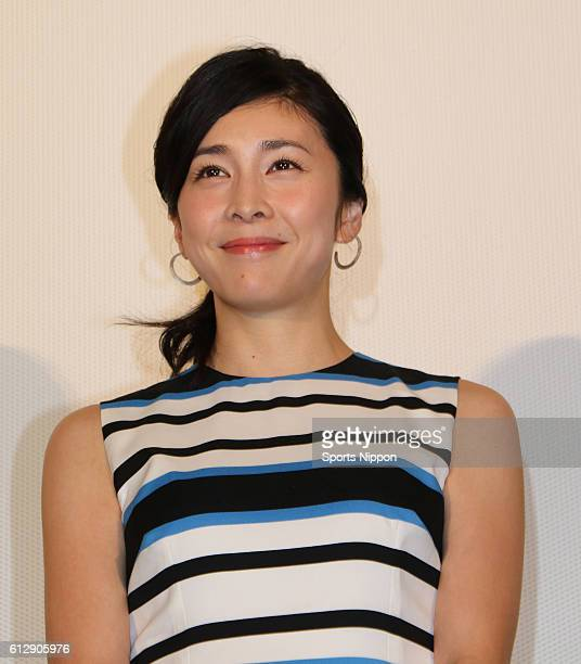 Actress Yuko Takeuchi attends opening day stage greeting of film 'Tono risoku de gozaru' on May 14 2016 in Tokyo Japan