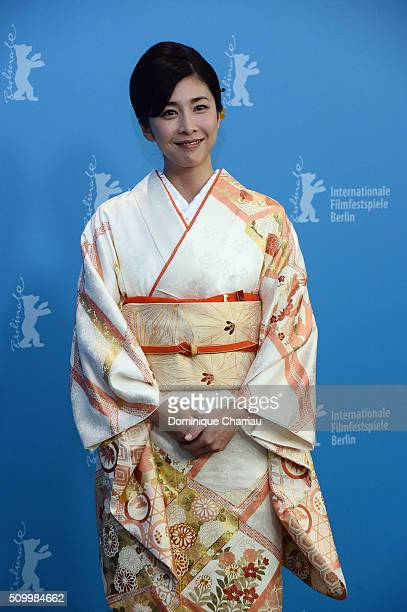 Actress Yuko Takeuchi attends the 'Creepy' photo call during the 66th Berlinale International Film Festival Berlin at Grand Hyatt Hotel on February...