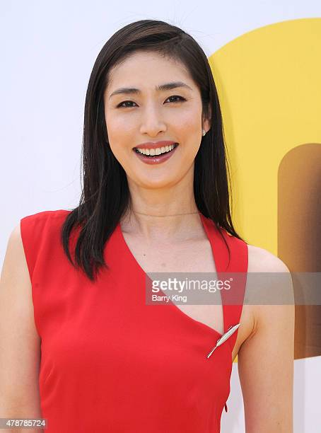 Actress Yuli Amami attends the Premiere of Universal Pictures and Illumination Entertainment's 'Minions' at the Shrine Auditorium on June 27 2015 in...