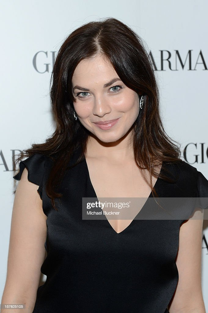 Actress Yuliya Snigir, wearing Emporio Armani attends the Giorgio Armani Beauty Luncheon on December 6, 2012 in Beverly Hills, California.