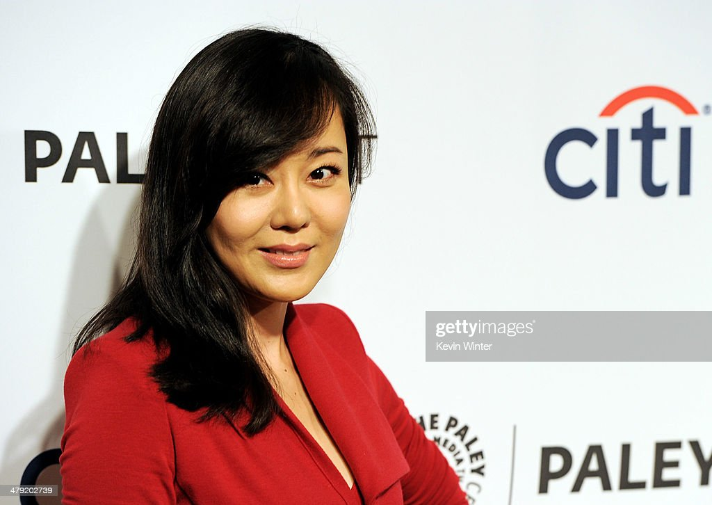 Actress <a gi-track='captionPersonalityLinkClicked' href=/galleries/search?phrase=Yunjin+Kim&family=editorial&specificpeople=540164 ng-click='$event.stopPropagation()'>Yunjin Kim</a> arrives at The Paley Center Media's PaleyFest 2014 Honoring 'Lost' 10th Anniversary Reunion at the Dolby Theatre on March 16, 2014 in Los Angeles, California.