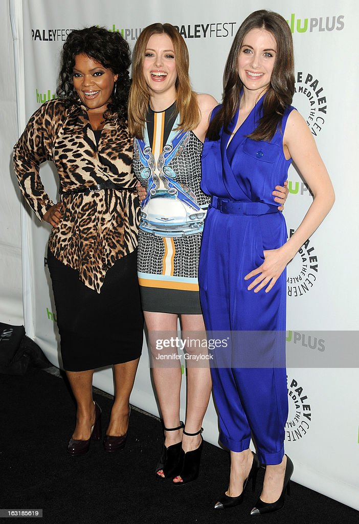 Actress <a gi-track='captionPersonalityLinkClicked' href=/galleries/search?phrase=Yvette+Nicole+Brown&family=editorial&specificpeople=4420097 ng-click='$event.stopPropagation()'>Yvette Nicole Brown</a>, Actress <a gi-track='captionPersonalityLinkClicked' href=/galleries/search?phrase=Alison+Brie&family=editorial&specificpeople=5447578 ng-click='$event.stopPropagation()'>Alison Brie</a> and Actress <a gi-track='captionPersonalityLinkClicked' href=/galleries/search?phrase=Gillian+Jacobs&family=editorial&specificpeople=4836757 ng-click='$event.stopPropagation()'>Gillian Jacobs</a> attends the 30th Annual PaleyFest: The William S. Paley Television Festival honors Community held at Saban Theatre on March 5, 2013 in Beverly Hills, California.