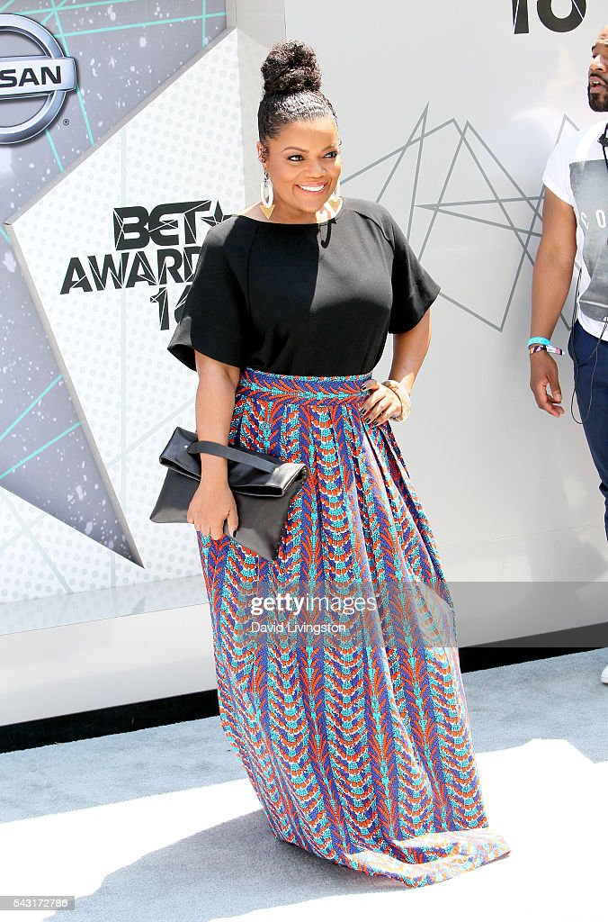 Actress <a gi-track='captionPersonalityLinkClicked' href=/galleries/search?phrase=Yvette+Nicole+Brown&family=editorial&specificpeople=4420097 ng-click='$event.stopPropagation()'>Yvette Nicole Brown</a> attends the 2016 BET Awards at Microsoft Theater on June 26, 2016 in Los Angeles, California.