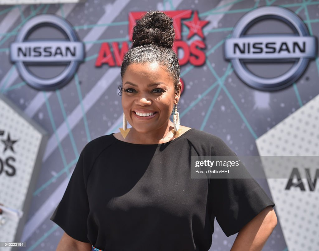 Actress <a gi-track='captionPersonalityLinkClicked' href=/galleries/search?phrase=Yvette+Nicole+Brown&family=editorial&specificpeople=4420097 ng-click='$event.stopPropagation()'>Yvette Nicole Brown</a> attends the 2016 BET Awards at the Microsoft Theater on June 26, 2016 in Los Angeles, California.