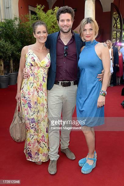 Actress Yvonne Burbach Peter Ketnath Astrid Fuenderich attend the Bavaria Reception during the Munich Film Festival 2013 at Kuenstlerhaus am...