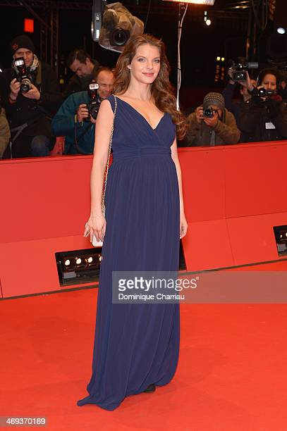 Actress Yvonne Catterfeld attends the 'La belle et la bete' premiere during 64th Berlinale International Film Festival at Berlinale Palast on...