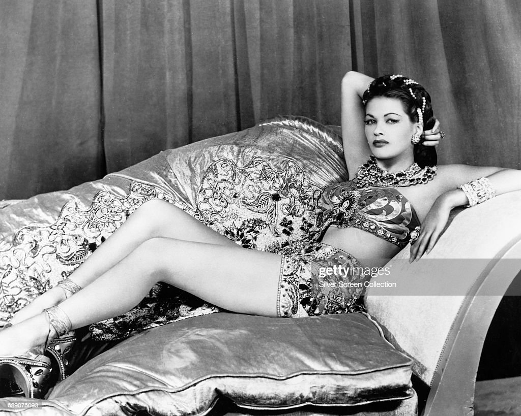 Actress Yvonne De Carlo (1922 - 2007) in a publicity still for the film 'Song of Scheherazade', 1947.