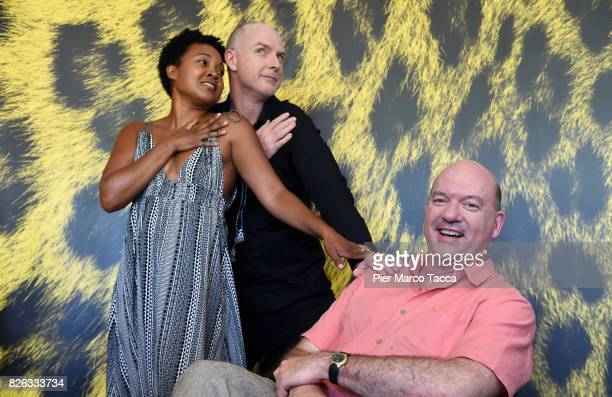 Actress Yvonne Lagramada Huff Lee Actor Hugo Armstrong and Director John Carroll Lynch during the 70th Locarno Film Festival on August 4 2017 in...