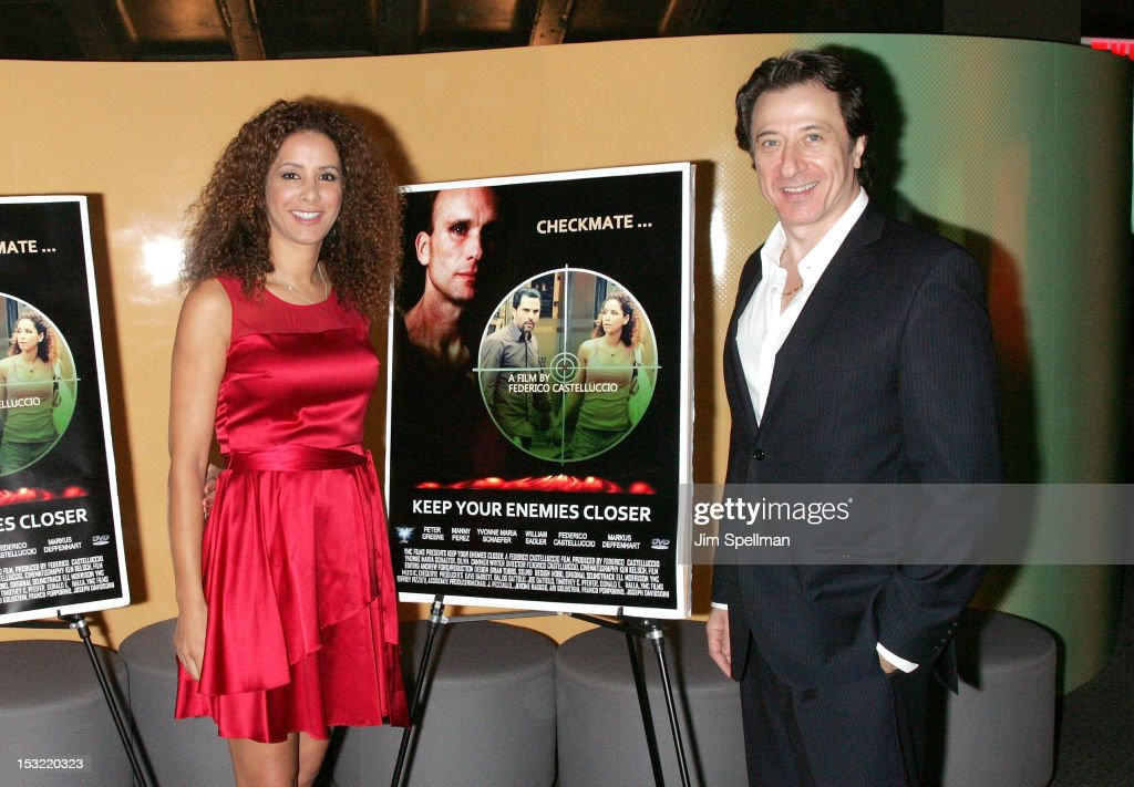 Actress Yvonne Maria Schaefer and actor/director Federico Castelluccio attend the 'Keep Your Enemies Closer: Checkmate' screening at the School of Visual Arts Theater on October 1, 2012 in New York City.