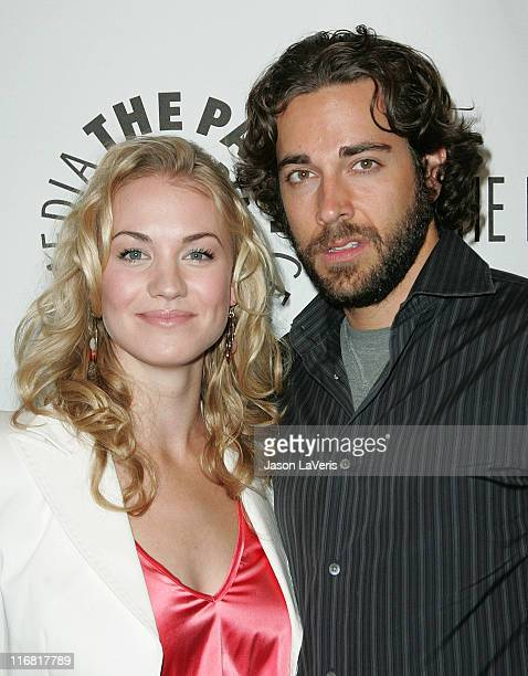 Actress Yvonne Strahovski and actor Zachary Levi attend the The 25th Annual William S Paley TV Festival at the Arclight on March 18 2008 in Hollywood...