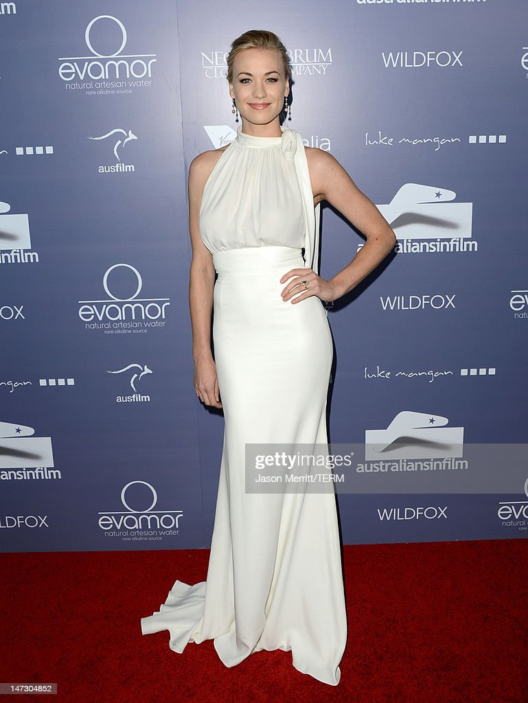 Actress Yvonne Strahovski arrives at Australians In Film Awards & Benefit Dinner at InterContinental Hotel on June 27, 2012 in Century City, California.