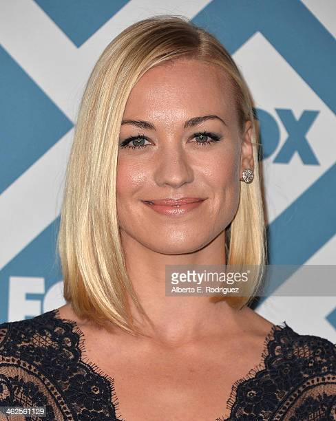 Actress Yvonne Strahovski arrives to the 2014 Fox AllStar Party at the Langham Hotel on January 13 2014 in Pasadena California