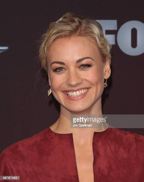 Actress Yvonne Strahovski attends '24 Live Another Day' World Premiere at Intrepid Sea on May 2 2014 in New York City
