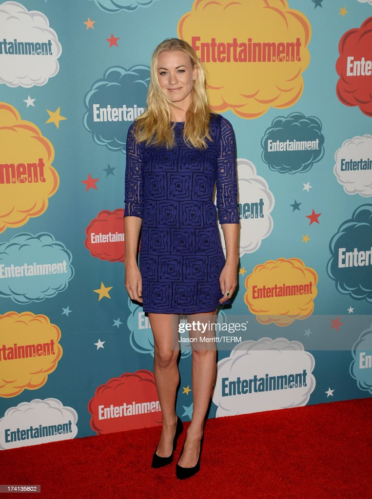 Actress <a gi-track='captionPersonalityLinkClicked' href=/galleries/search?phrase=Yvonne+Strahovski&family=editorial&specificpeople=4387578 ng-click='$event.stopPropagation()'>Yvonne Strahovski</a> attends Entertainment Weekly's Annual Comic-Con Celebration at Float at Hard Rock Hotel San Diego on July 20, 2013 in San Diego, California.