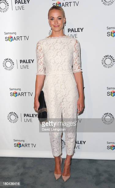 Actress Yvonne Strahovski attends PaleyFestPreviews Fall TV Fall Farewell 'Dexter' at The Paley Center for Media on September 12 2013 in Beverly...
