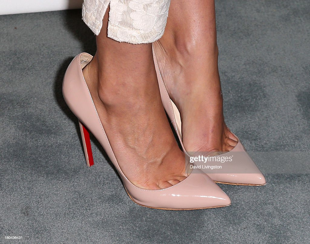 Actress Yvonne Strahovski (shoe detail) attends PaleyFestPreviews: Fall TV - Fall Farewell: 'Dexter' at The Paley Center for Media on September 12, 2013 in Beverly Hills, California.