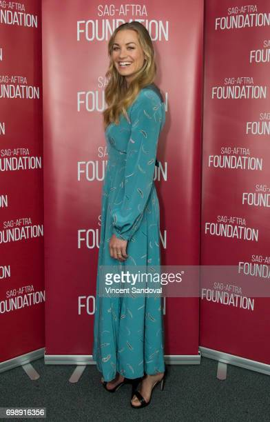 Actress Yvonne Strahovski attends SAGAFTRA Foundation's Conversations with 'The Handmaid's Tale' at SAGAFTRA Foundation Screening Room on June 20...
