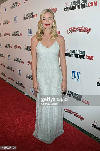 Actress Yvonne Strahovski attends the 29th American Cinematheque Award honoring Reese Witherspoon at the Hyatt Regency Century Plaza on October 30...