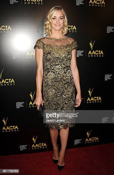 Actress Yvonne Strahovski attends the 3rd annual AACTA International Awards at Sunset Marquis Hotel Villas on January 10 2014 in West Hollywood...
