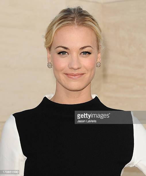 Actress Yvonne Strahovski attends the 'Dexter' series finale season premiere party at Milk Studios on June 15 2013 in Hollywood California
