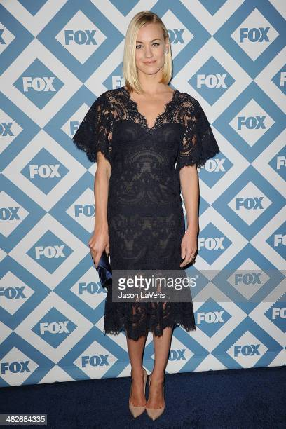 Actress Yvonne Strahovski attends the FOX AllStar 2014 winter TCA party at The Langham Huntington Hotel and Spa on January 13 2014 in Pasadena...