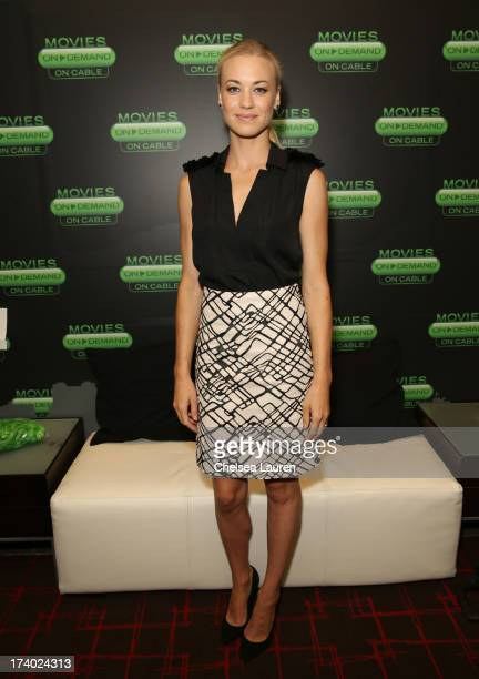 Actress Yvonne Strahovski attends the 'I Frankenstein' at the Movies On Demand Lounge during ComicCon International 2013 at Hard Rock Hotel San Diego...