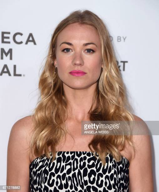 Actress Yvonne Strahovski attends the Premiere of 'A Handmaid's Tale' during the 2017 Tribeca Film Festival at SVA Theater on April 21 2017 in New...