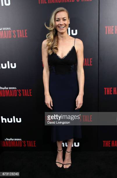 Actress Yvonne Strahovski attends the premiere of Hulu's 'The Handmaid's Tale' at ArcLight Cinemas Cinerama Dome on April 25 2017 in Hollywood...