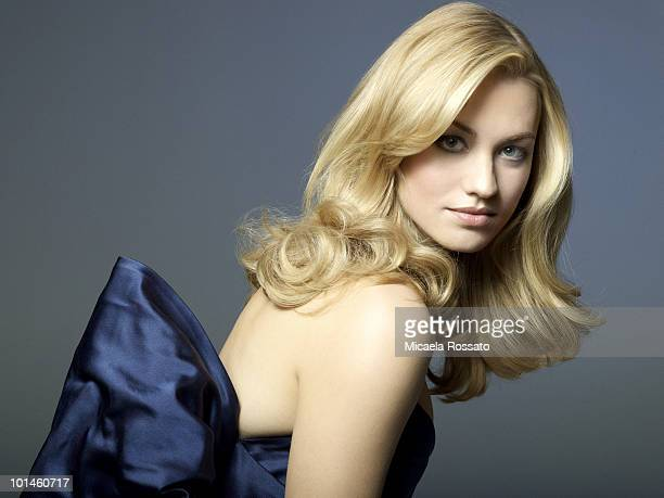 Actress Yvonne Strahovski poses at a portrait session for InStyle Magazine in New York NY on December 1 2008