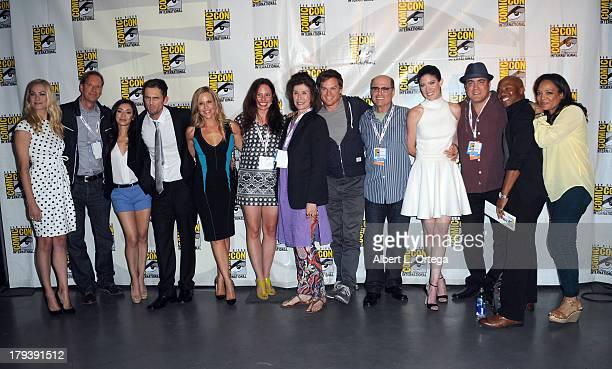 Actress Yvonne Strahovski producer Scott Buck actress Aimee Garcia actor Desmond Harrington actress Julie Benz actress Jaime Murray producer Sara...