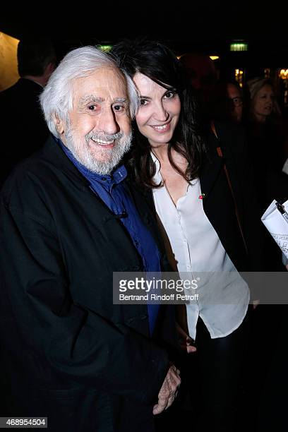 Actress Zabou Breitman and her father JeanClaude Deret attend the 'Paris Merveilles' Lido New Revue Opening Gala on April 8 2015 in Paris France