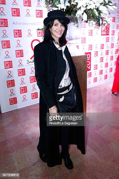 Actress Zabou Breitman attends the Sidaction Gala Dinner 2016 as part of Paris Fashion Week Held at Pavillon d'Armenonville on January 28 2016 in...