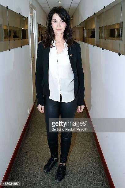 Actress Zabou Breitman presents the movie 'Entre amis' during the 'Vivement Dimanche' French TV Show at Pavillon Gabriel on April 8 2015 in Paris...