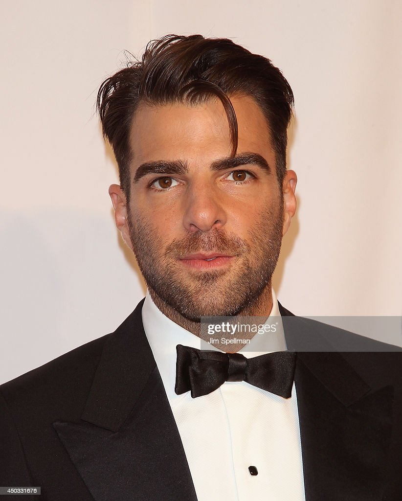 Actress <a gi-track='captionPersonalityLinkClicked' href=/galleries/search?phrase=Zachary+Quinto&family=editorial&specificpeople=715956 ng-click='$event.stopPropagation()'>Zachary Quinto</a> attends American Theatre Wing's 68th Annual Tony Awards at Radio City Music Hall on June 8, 2014 in New York City.