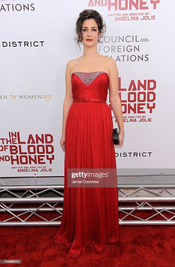 Actress Zana Marjanovic poses for a photo during the premiere of 'In the Land of Blood and Honey' at the School of Visual Arts on December 5, 2011 in New York City.