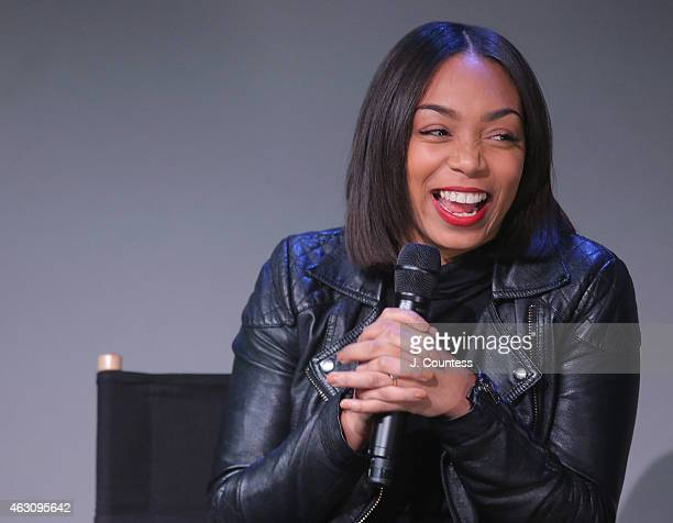 Actress Zaraah Abrahams speaks during the Apple Store Soho Presents Meet The Filmmaker Spike Lee And Zaraah Abrahams 'Da Sweet Blood of Jesus' at...