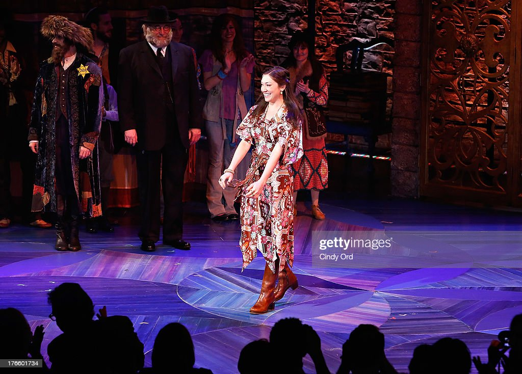 Actress Zarah Mahler participates in the curtain call for the Broadway opening night of 'Soul Doctor' at the Circle in the Square Theatre on August 15, 2013 in New York City.