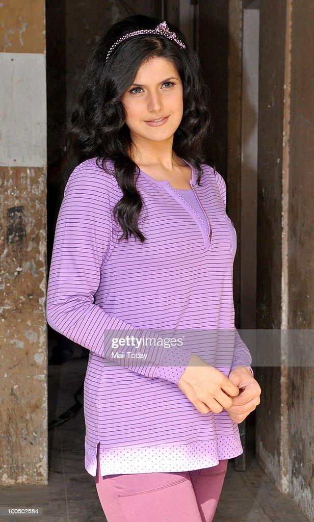 Actress Zarine Khan during an ad shoot in Mumbai on May 24, 2010.