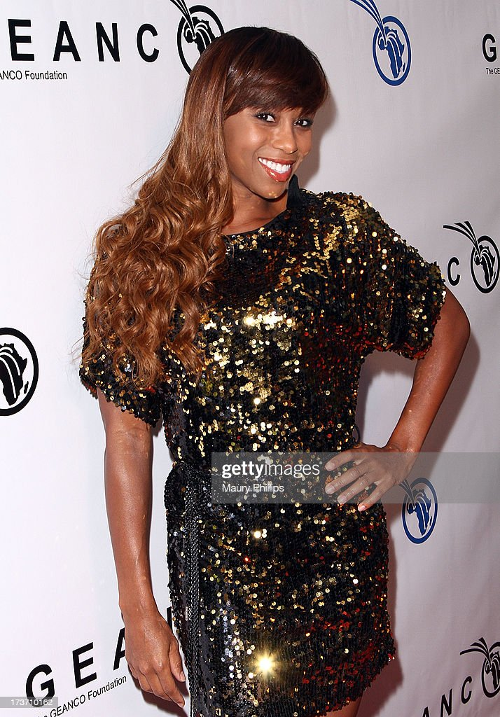 Actress Zee James arrives at The GEANCO Foundation's 'Impact Africa' Fundraiser at Bootsy Bellows on July 16, 2013 in West Hollywood, California.