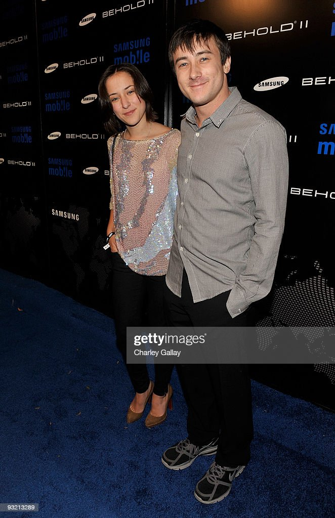 Actress Zelda Williams and Alex Frost arrive at the Samsung Behold II launch event at Boulevard3 on November 18, 2009 in Los Angeles, California.