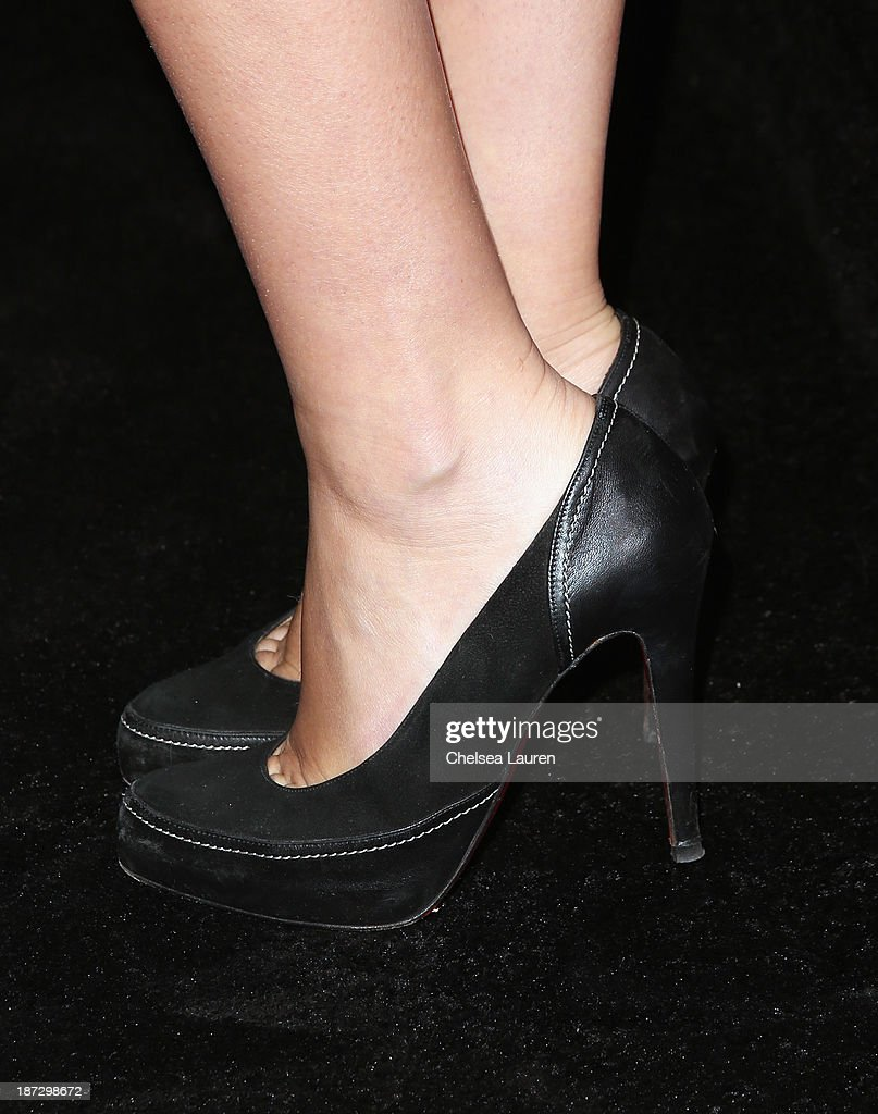 Actress Zelda Williams (shoe detail) attends Ermenegildo Zegna Global Store Opening hosted by Gildo Zegna and Stefano Pilati at Ermenegildo Zegna Boutique on November 7, 2013 in Beverly Hills, California.