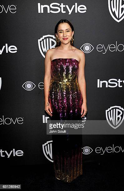 Actress Zelda Williams attends The 2017 InStyle and Warner Bros 73rd Annual Golden Globe Awards PostParty at The Beverly Hilton Hotel on January 8...