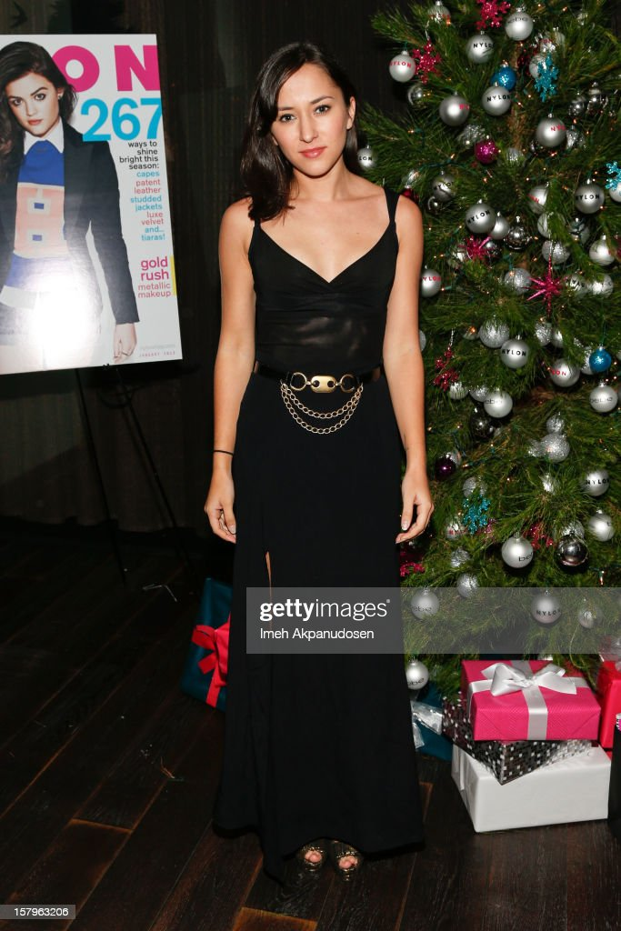 Actress <a gi-track='captionPersonalityLinkClicked' href=/galleries/search?phrase=Zelda+Williams&family=editorial&specificpeople=213509 ng-click='$event.stopPropagation()'>Zelda Williams</a> attends the Celebration of NYLON's December/January Cover Star Lucy Hale Presented by bebe at Andaz Hotel on December 7, 2012 in Los Angeles, California.