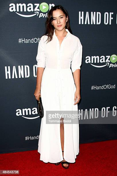Actress Zelda Williams attends the premiere of Amazon's series 'Hand Of God' held at the Ace Theater Downtown LA on August 19 2015 in Los Angeles...