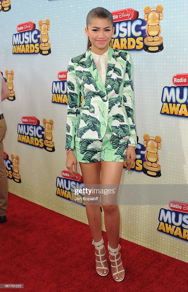 Actress Zendaya arrives at the 2013 Radio Disney Music Awards at Nokia Theatre L.A. Live on April 27, 2013 in Los Angeles, California.