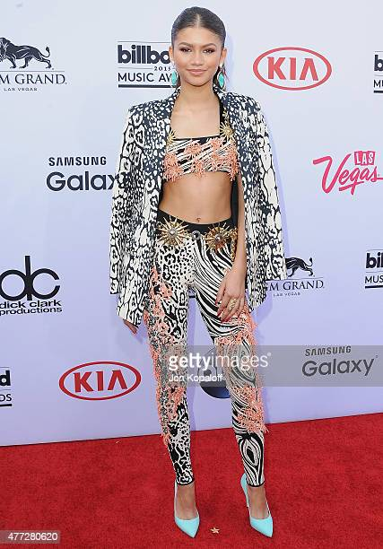 Actress Zendaya arrives at the 2015 Billboard Music Awards at MGM Garden Arena on May 17 2015 in Las Vegas Nevada