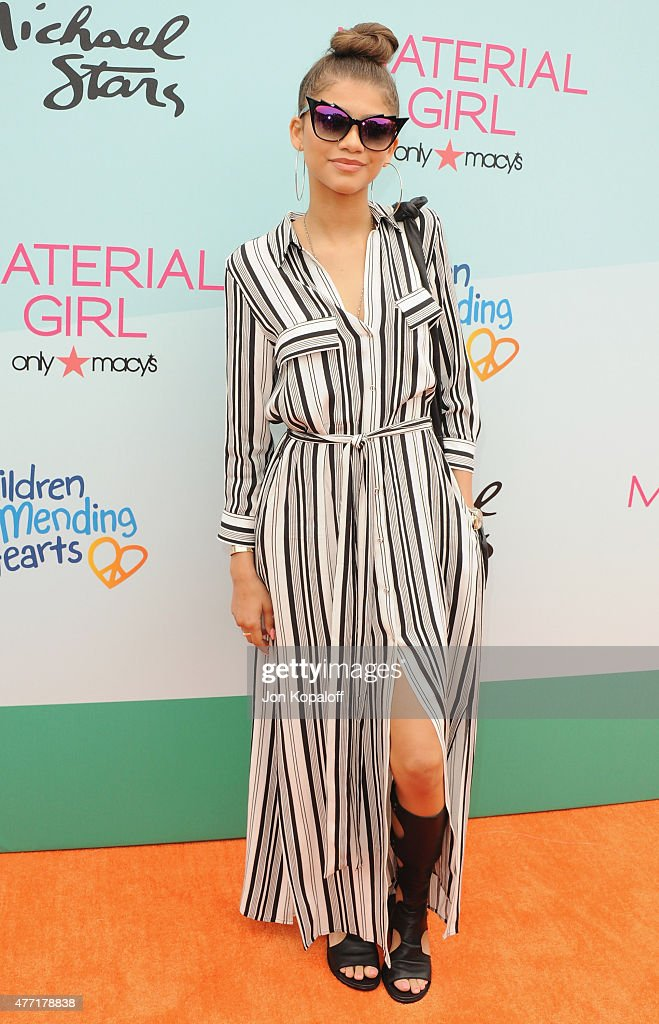 Actress Zendaya arrives at the Children Mending Heart's 7th Annual Empathy Rocks Fundraiser on June 14 2015 in Malibu California