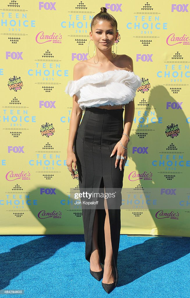Actress Zendaya arrives at the Teen Choice Awards 2015 at Galen Center on August 16 2015 in Los Angeles California