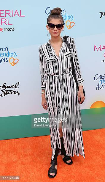 Actress Zendaya attends Children Mending Hearts 7th Annual Empathy Rocks Fundraiser at a private estate on June 14 2015 in Malibu California